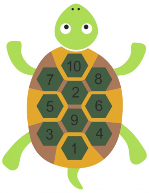 TURTLE WITH NUMBERS